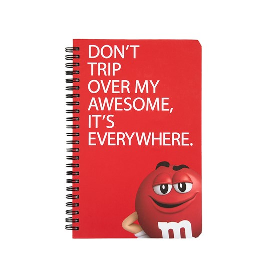 Top view of M&M'S Humor Character Notebook