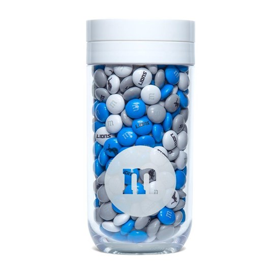 Detroit Lions NFL M&M'S Candy Gift Jar, Front View of Jar