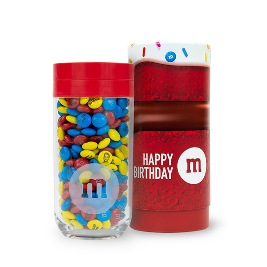 M&M'S Gift Jar in Birthday Gift Tube (red lid)