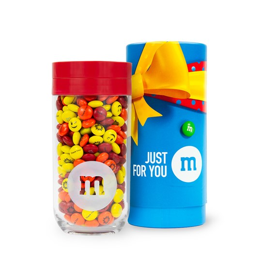Personalizable M&M'S Gift Jar net to Just for You Gift Tube
