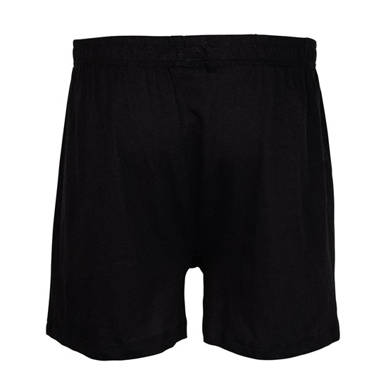 Back of Who's Your Candy Lounge Shorts - Black