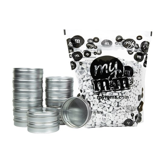 Pre-Designed Wedding M&M'S DIY Favor Kit - Bulk bag of M&M'S and empty favors