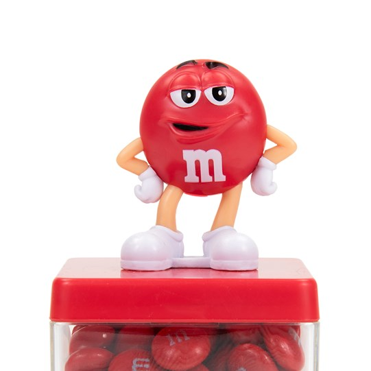 M&M'S Character Cube Gift Box, Up Close View of M&M'S Character Figurine on Lid