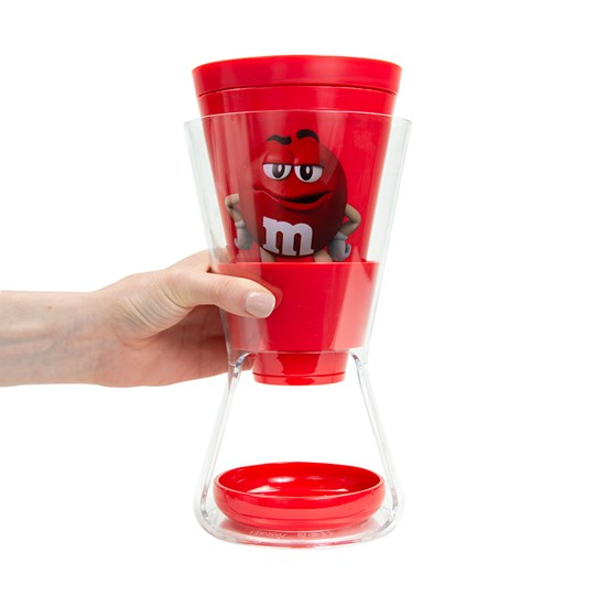 Hand holding M&M'S Character Funnel Candy Dispenser