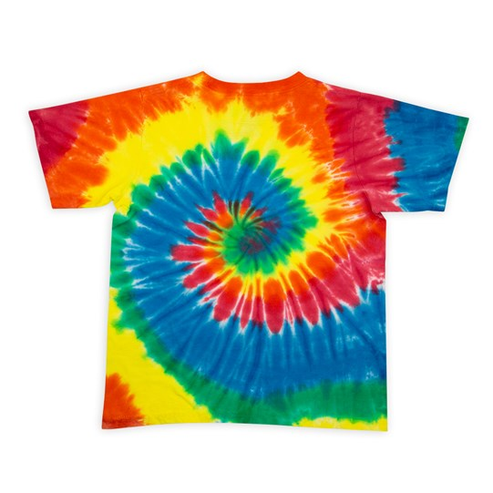 Youth M&M'S Tie Dye Tee, Back View of T-Shirt Showing Tie Dye Pattern