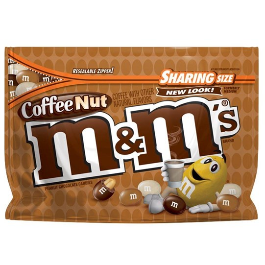 M&M'S Coffee Nut Chocolate 9.6 oz Bag, Sharing Size