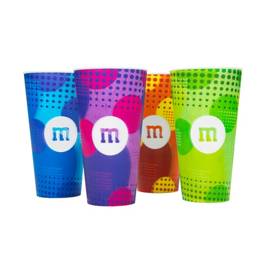 M&M'S 3D M Logo Cups, 4 Pack