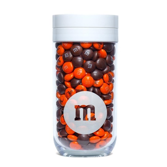 Cleveland Browns NFL M&M'S Candy Gift Jar, Front View Gift Jar