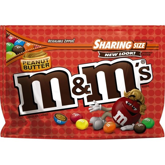 M&M'S Peanut Butter Chocolate 9.6 oz Bag, Sharing Size