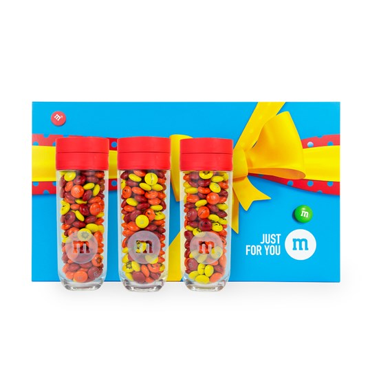 Personalizable M&M'S Three Small Gift Jars in Just for You Gift Box
