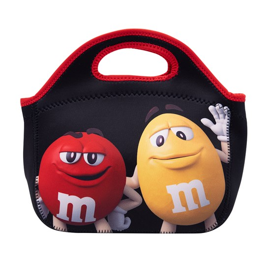 Red & Yellow Characters waving on the front of the M&M'S Character Insulated Tote