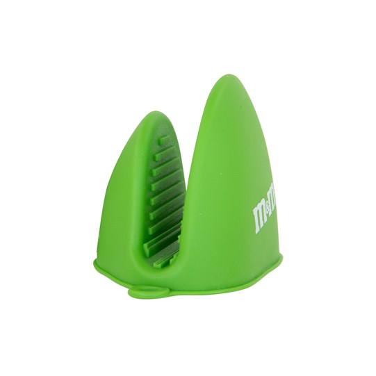 M&M'S Green Silicone Oven Mitt, Side View of Green Oven Mitt