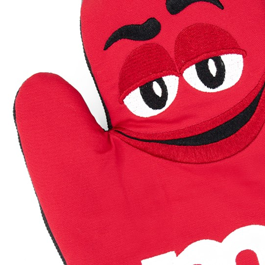 M&M'S Character Big Face Oven Mitt, Up Close View of Character Design on Oven Mitt