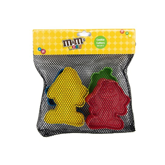 M&M'S Character Cookie Cutter Set, View of M&M'S Character Cookie Cutters inside M&M'S Packaging