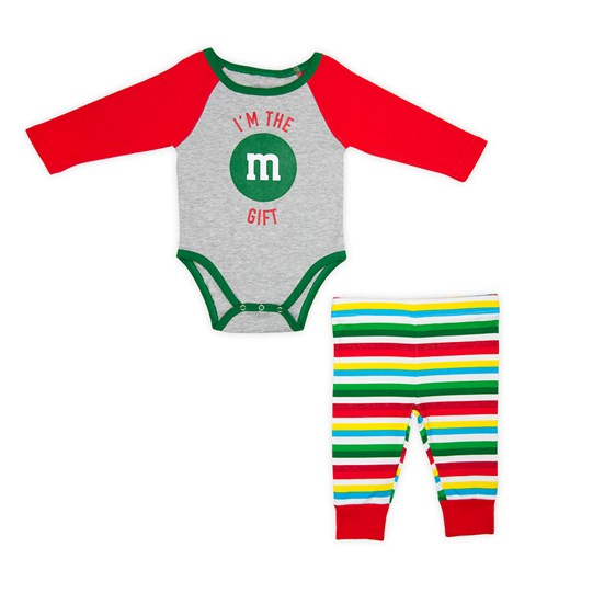 Infant M&M'S Holiday Lounge Set; Front View