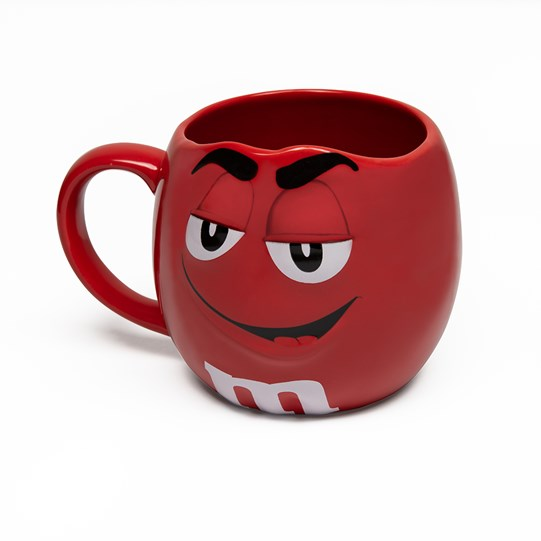 M&M'S Character Figural Mug, Side View of M&M'S Character on Front of Coffee Mug with Handle, Showing Inside