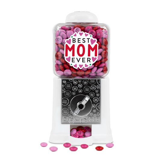 Personalizable M&M'S Best Mom Ever Dispenser in White Gift Box; Basic View