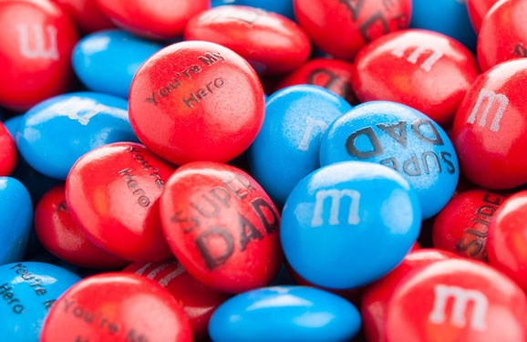 Personalized Father's Day gift M&M'S