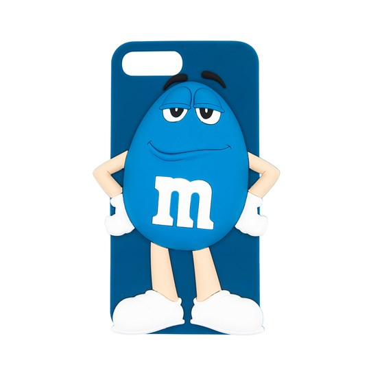 Blue M&M'S Character iPhone Case, Back View of Blue Silicone iPhone Case with Blue M&M'S Character