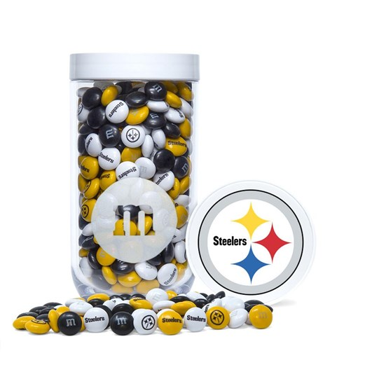 Pittsburgh Steelers NFL M&M'S Candy Gift Jar - Logo on lid