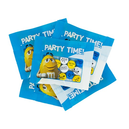 Personalizable M&M'S Party Time Character Favor Packs