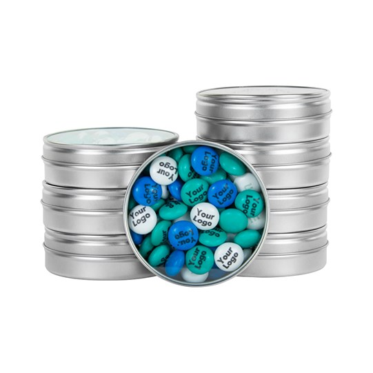 M&M'S Business Silver Favor Tins - Personalizable M&M'S candy