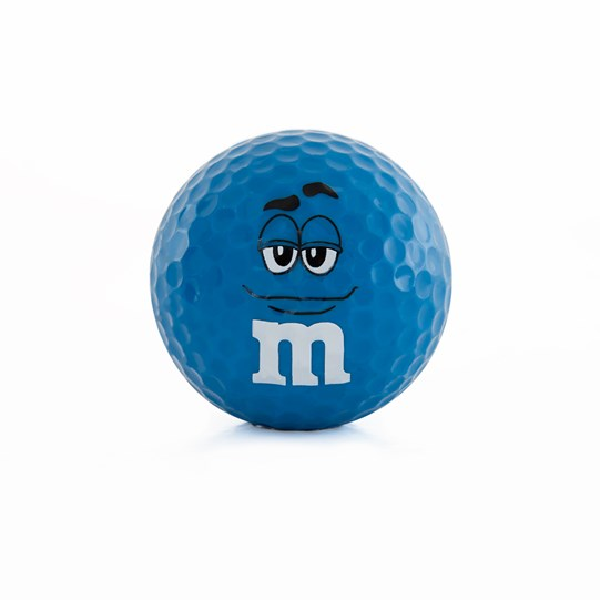 M&M'S Character Big Face Golf Ball, Front View of M&M'S Character on Golf Ball