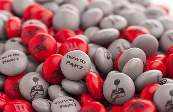 Personalized M&M'S on a white background