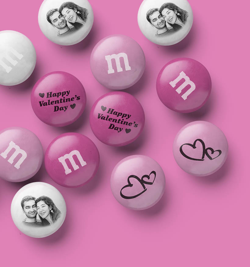 A spill of personalized M&M'S