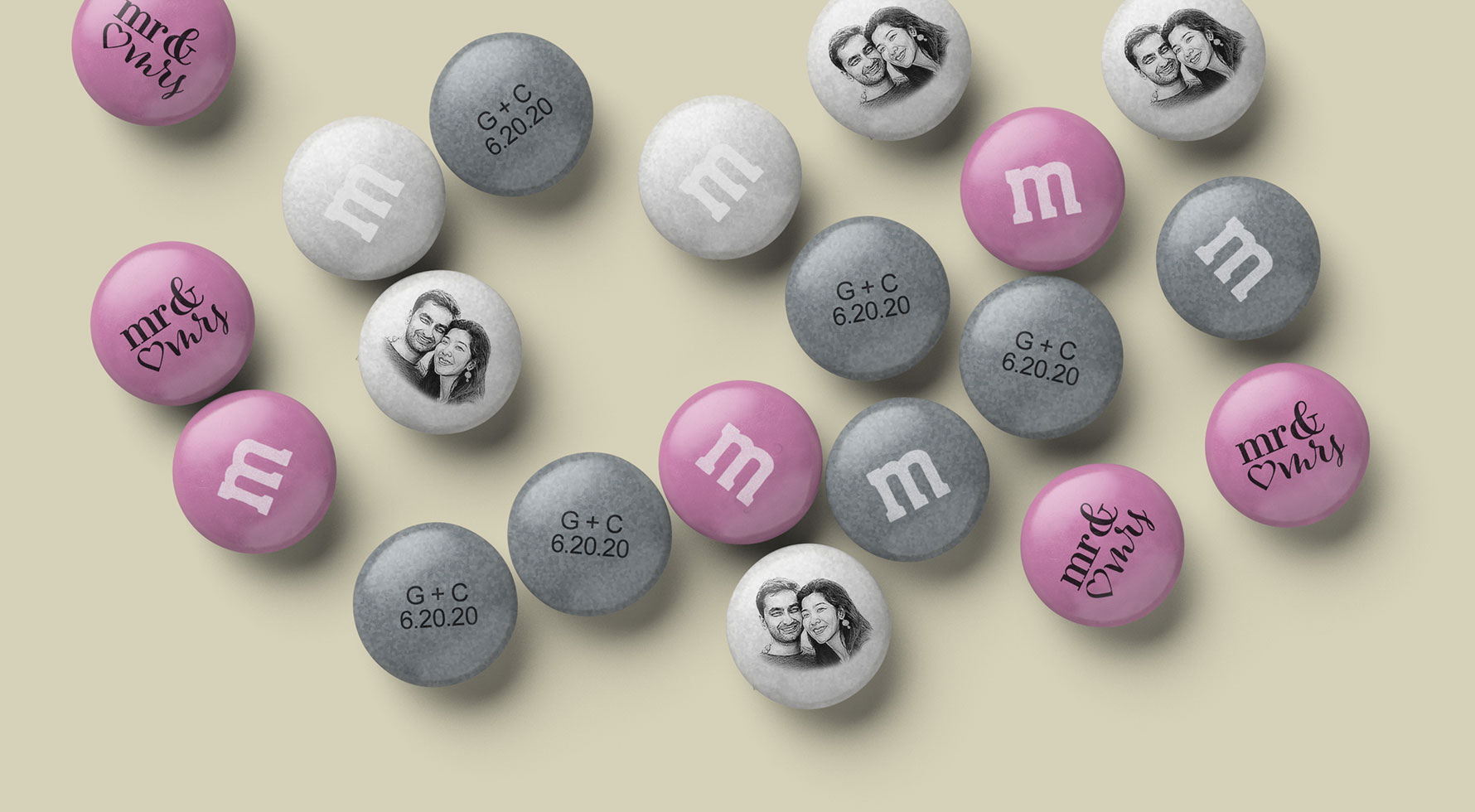 Personalized Wedding Candy Spill