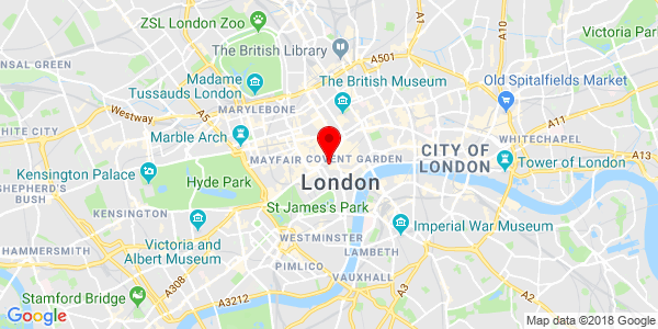 Map of London store location