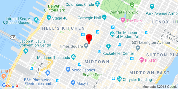 Map of New York City store location