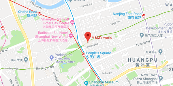 map of Shanghai store location