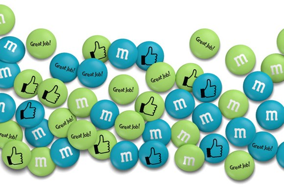 Personalised M&M'S congrats gift with custom messages