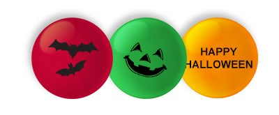 Personalised Halloween candy M&M'S on a white background