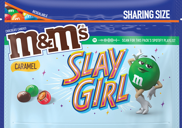 Caramel flavored M and M Message Pack, Option 3