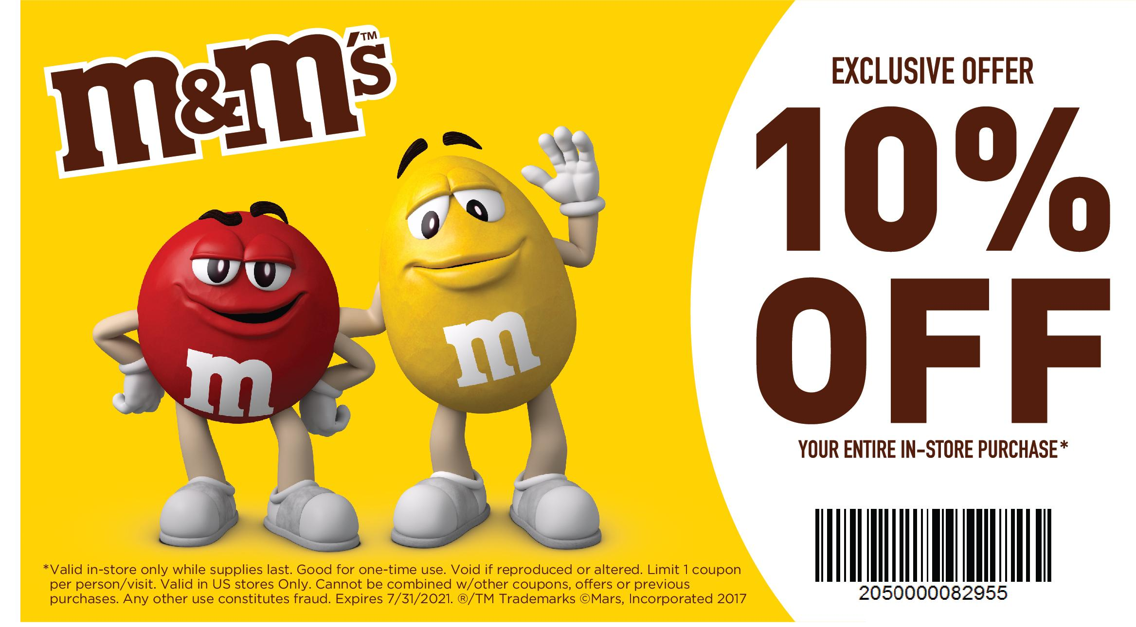 10% in-store coupon