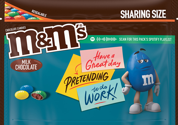 Milk Chocolate flavored M and M Message Pack, Option 3