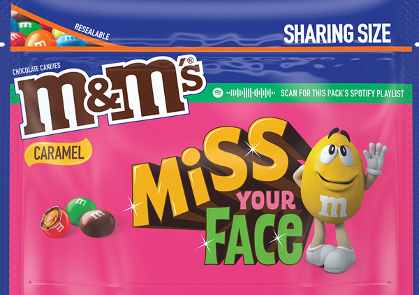 Caramel flavored M and M Message Pack, Option 2