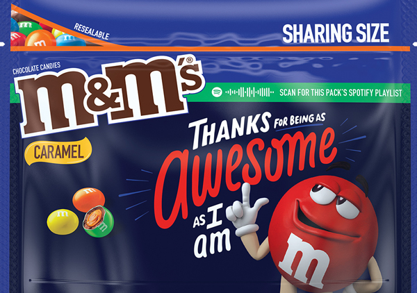 Caramel flavored M and M Message Pack, Option 1