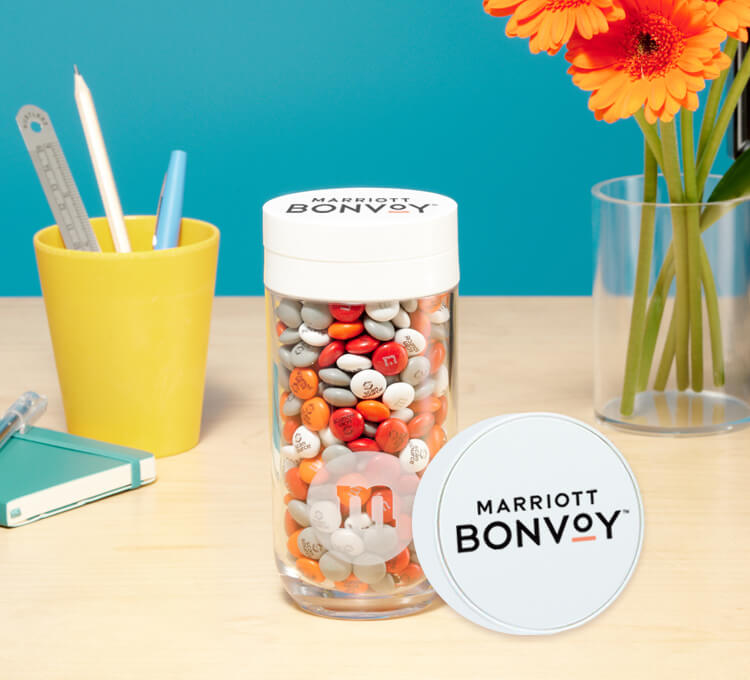 Personalized M&M'S as a coffee treat