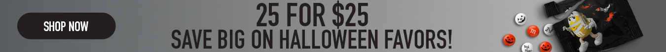 Click the banner to see our 25 pack halloween favors for 25 dollars