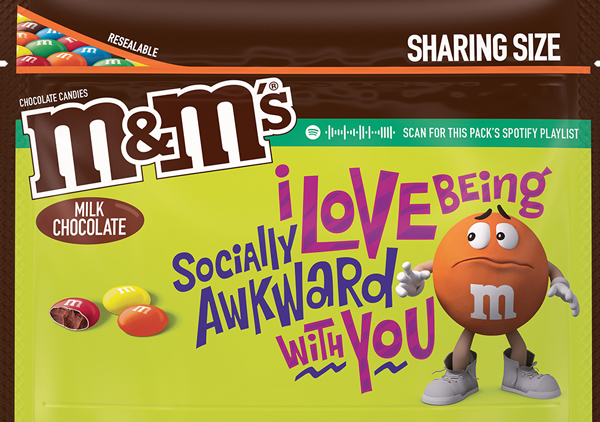 Milk Chocolate flavored M and M Message Pack, Option 4