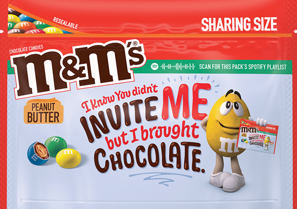 Peanut Butter Flavored M an Ms Message Pack, Option 4