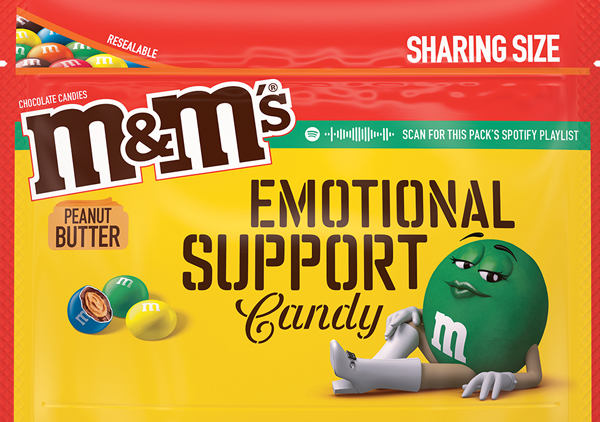 Peanut Butter Flavored M an Ms Message Pack, Option 3