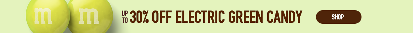 Up to 30% off electric green candy