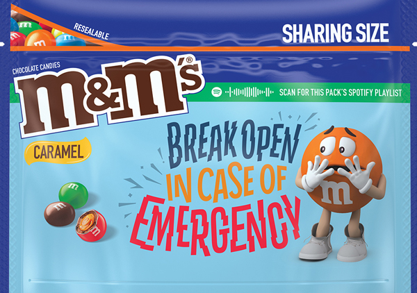 Caramel flavored M and M Message Pack, Option 4