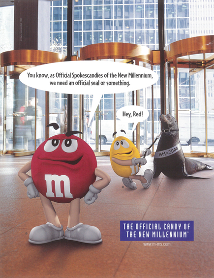 M&M'S Chocolate Candies the Official Candy of the New Millenium