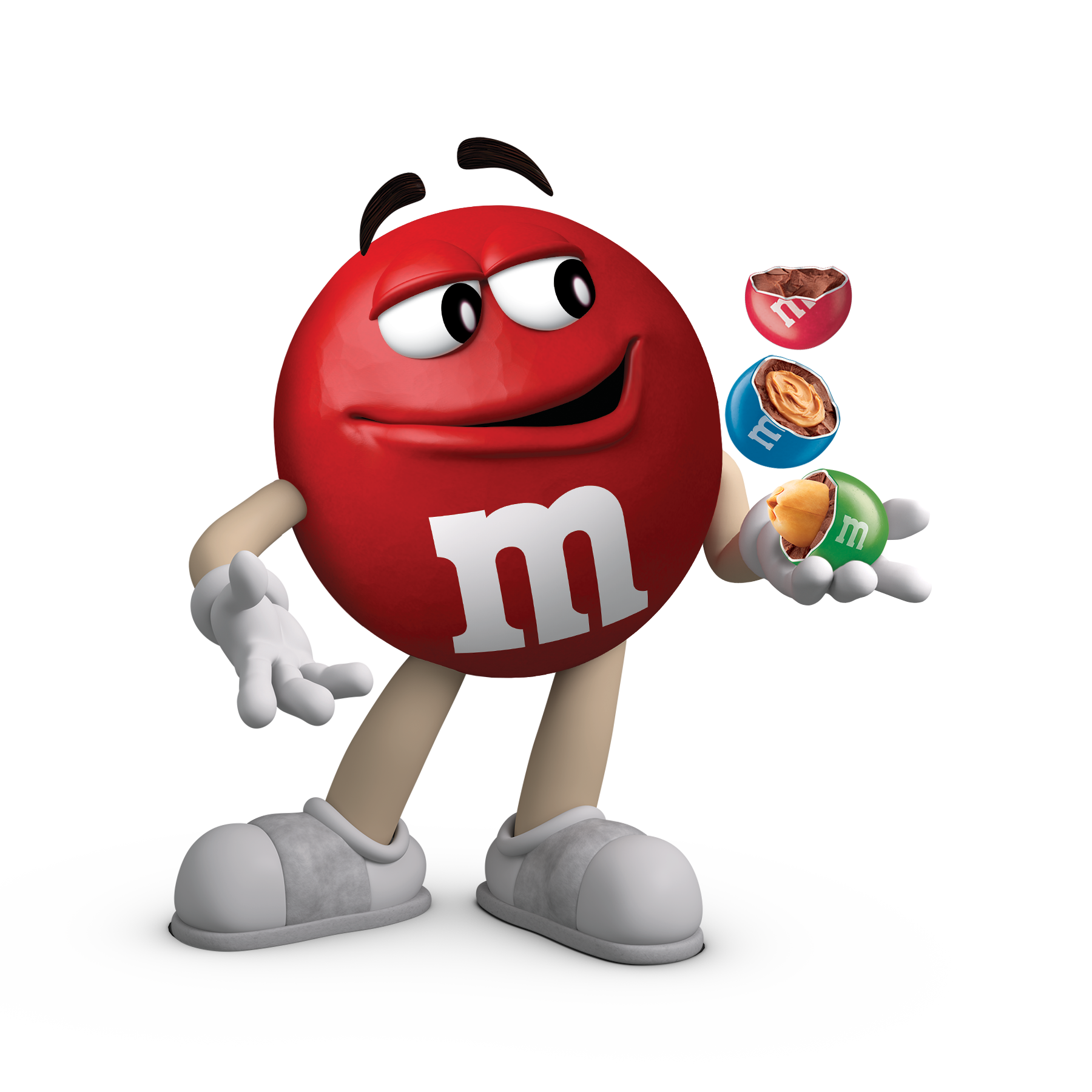 Red M and M Character