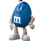Small Blue M&M'S Character